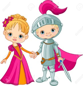 14980969-Cute-children-wearing-Medieval-Costumes-Stock-Vector-cartoon-knight-fairy